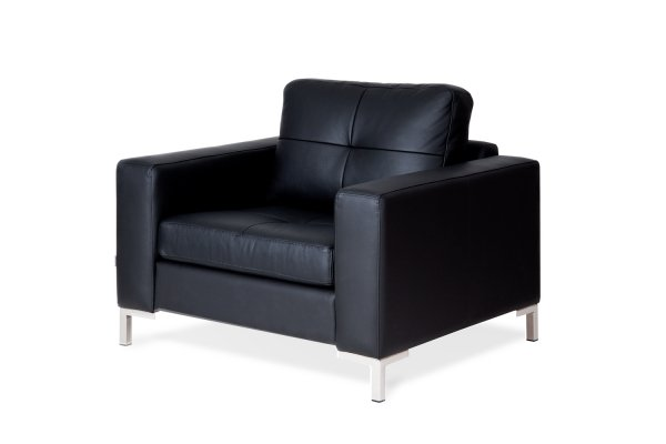 Кресло Rufus черного цвета