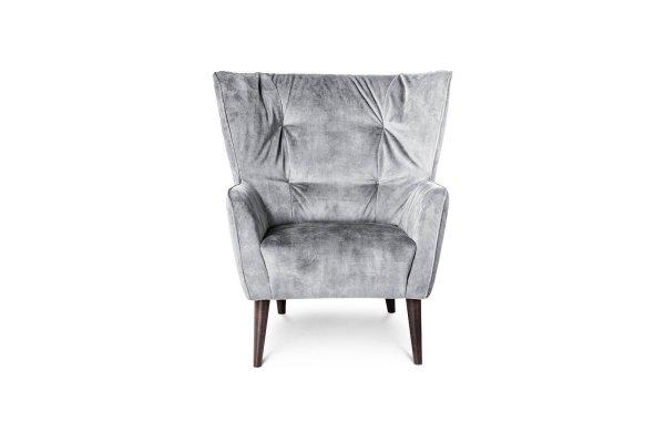 Светло-серое кресло Siena