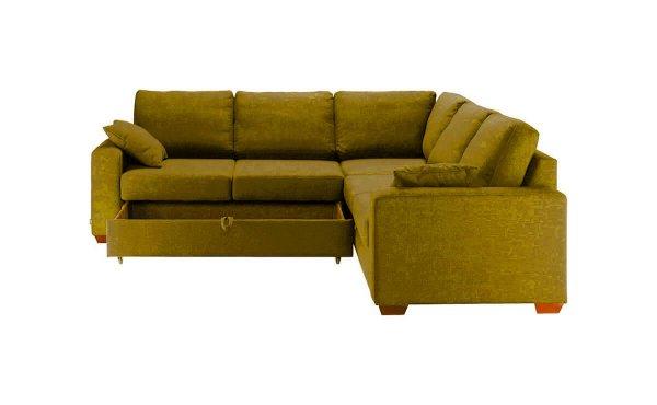 Раскладной диван Roma горчичный