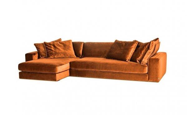 Диван Blend угловой оранжево-коричневый