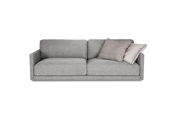 Глубокий диван Discovery прямой серый