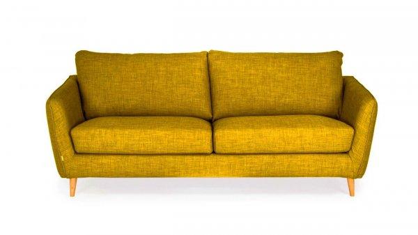 Стильный диван Faro прямой желто-оранжевый