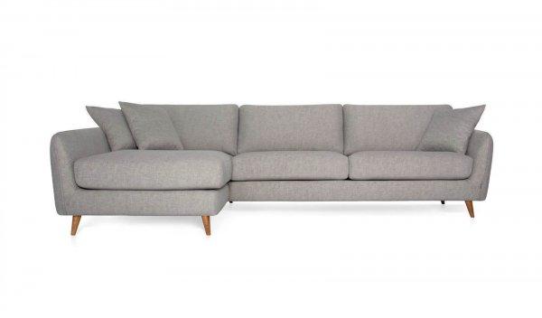 Стильный диван Faro угловой серый