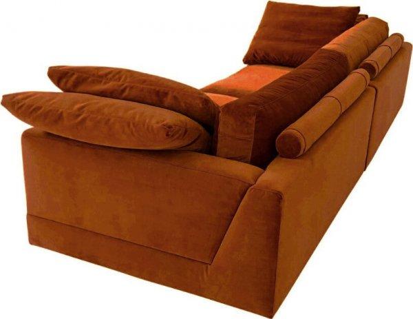 Диван Infinity прямой оранжево-коричневый