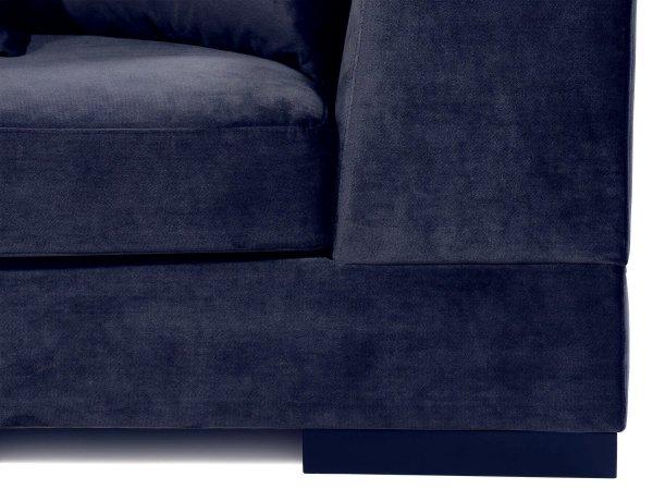 Глубокий диван Lazy сине-серый