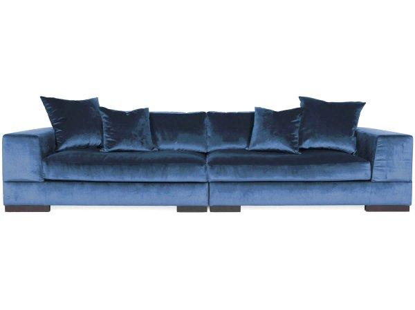Глубокий диван Lazy синий