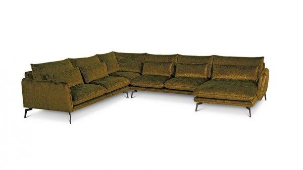 Диван Style П-образный оливково-зеленый левый