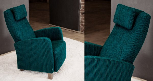 Кресло Julia бирюзовое