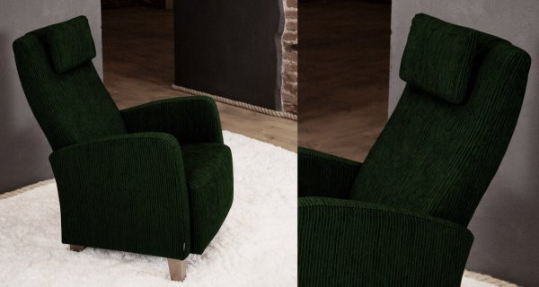 Кресло Julia оливково-зеленое